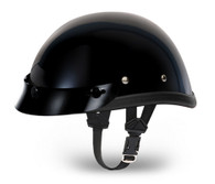 Daytona Eagle Novelty Helmet with Snaps in Hi-Gloss Black