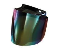 Daytona Flip Up Visor for All 3-Snap Helmets with Iridescent Rainbow Lens