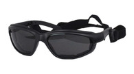 Daytona Interchangeable Goggles/Sunglasses with Smoke Lens.