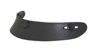 Mini Scoop Visor for 3-Snap Helmets - Matte Black.