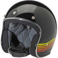 Biltwell Bonanza 3/4 DOT-Approved Motorcycle Helmet in Limited Edition Spectrum Black/Orange - Overview