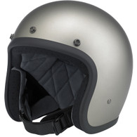 Biltwell Bonanza 3/4 DOT-Approved Motorcycle Helmet in Flat Titanium.