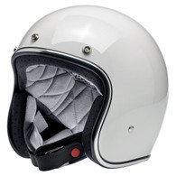 Biltwell Bonanza 3/4 DOT-Approved Motorcycle Helmet in Gloss White - Overview