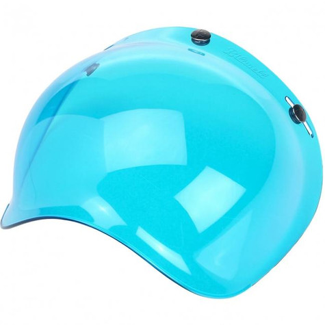 Biltwell Anti-Fog Bubble Shield for 3-snap helmets in translucent Blue - Overview Left