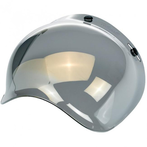 Biltwell Bubble Shield for 3-Snap Helmets in Gold Mirror finish - Overview Left