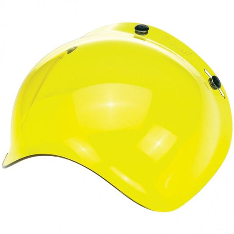Biltwell Bubble Shield for 3-Snap helmets in Yellow Translucent - Overview Left