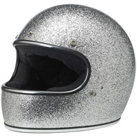 Biltwell Gringo Full Face Helmet in Brite Silver Metal Flake - Overview