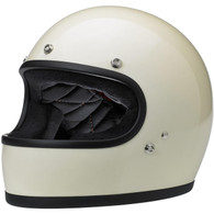 Biltwell Gringo Full Face Helmet in Gloss Vintage White - Overview