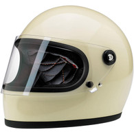 Biltwell Gringo-S full face helmet with visor in Gloss Vintage White - Overview