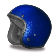 Daytona Cruiser 3/4 DOT-Approved Motorcycle Helmet in Blue Metal Flake - Overview