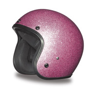 Daytona Cruiser 3/4 Moto Helmet in Pink Metal Flake
