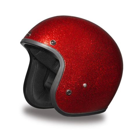 Daytona Cruiser Open-Face DOT Approved 3/4 Motorcycle Helmet in Red Metalflake - Overview