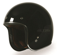 Torc T50 DOT-Approved 3/4 Open-Face Motorcycle Helmet in Gloss Black