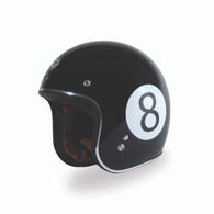 Torc T-50 Open Face 3/4 Helmet - Baller Design (with 8-Ball graphics)