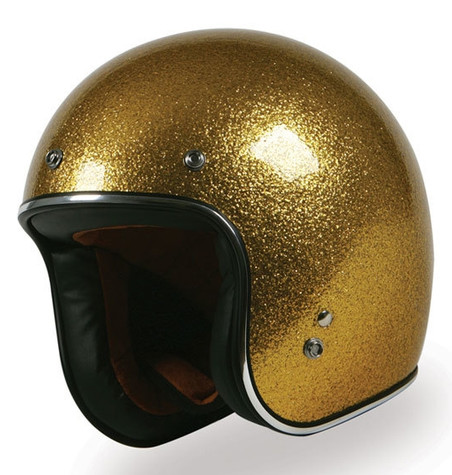 Torc T50 DOT-Approved Open-Face Motorcycle Helmet with Gold Metalflake Paint - Overview
