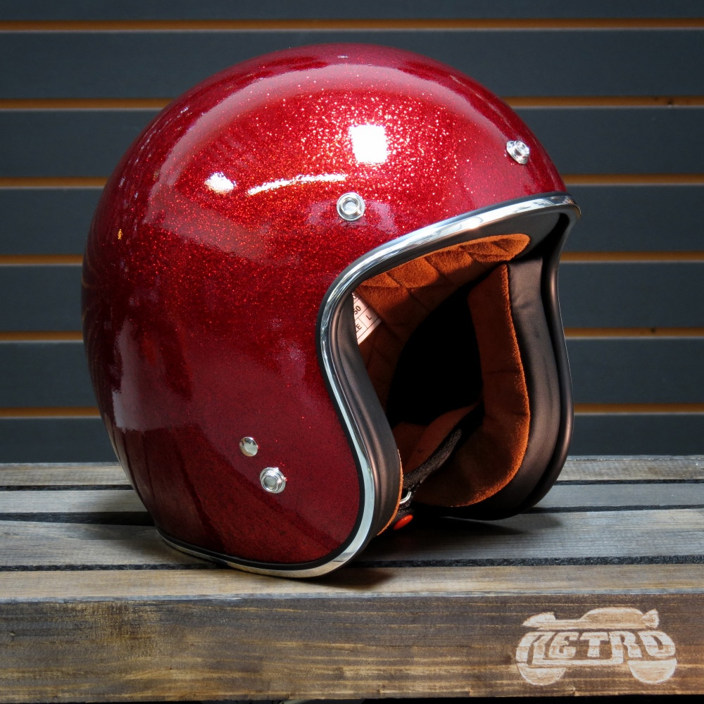 Torc 3 4 Open Face Helmet T 50 Super Flake Red