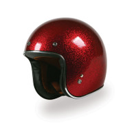 Torc T-50 Superflake Red Moto Helmet