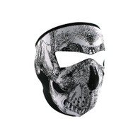 Zan Headgear Full Face Mask - Black & White Skull