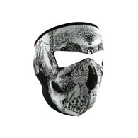 Zan Headgear Full Face Mask - Glow in the Dark Skull