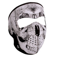 Zan Headgear Full Face Mask - Reflective Skull