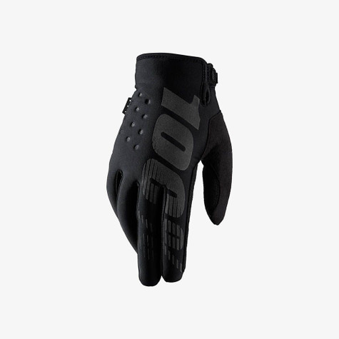 100% Brisker cold-weather riding glove in Black - Top