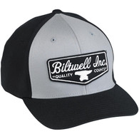 Biltwell Shield Fitted Baseball Hat in Black and Grey - Overview