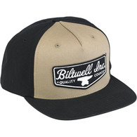 Biltwell Shield Trucker Hat in Black and Beige