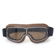 RBG Pilot Vintage-Styled Goggles in Natural with Smoke Lens