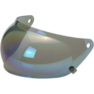 Rainbow Mirror Biltwell Retractable Bubble Shield for Gringo-S Helmets - Side