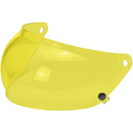 Yellow Biltwell Retractable Bubble Shield for Gringo-S Helmets - Side