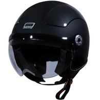 Origine Pilota Jet-Style 3/4 Motorcycle Helmet in Flat Black