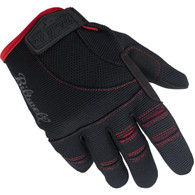 Biltwell Moto Gloves in Black and Red - Top