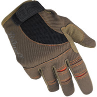 Biltwell Moto Gloves in Brown and Orange - Top