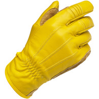 Biltwell Work Riding Gloves in Gold - Outside