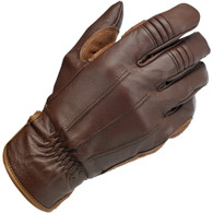 Biltwell Work Glove in Chocolate - Outside