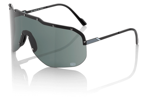 100% Westfield Sunglasses in Black with Smoke Lenses - Angle