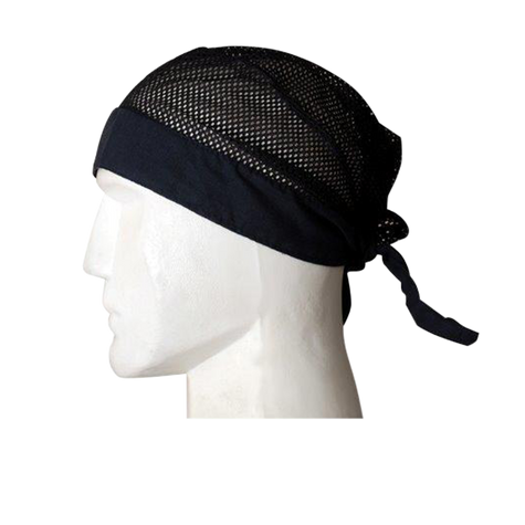 Daytona Head Wrap in Black - Side View