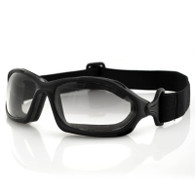 Bobster DZL Goggles in Black with Photochromic Lens - Front Angle