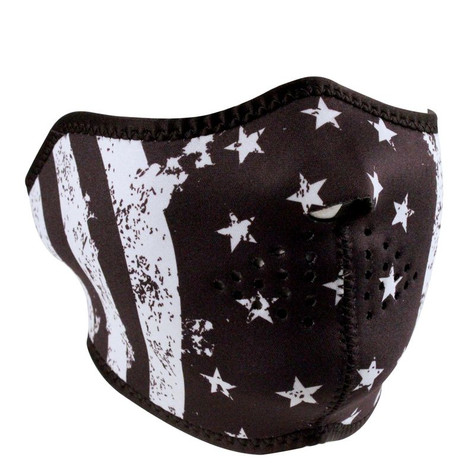 ZAN Half Mask In Black and White Vintage Flag design