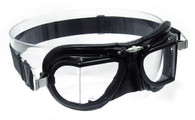Halcyon Compact 9 Racing Motorcycle Aviator Goggle in Black