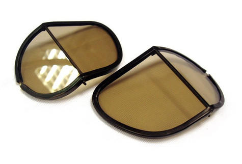 Halcyon Polycarbonate Replacement Split Lens in Smoke Tint for Aviator Goggles