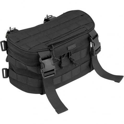 Biltwell EXFIL-7 Motorcycle Storage Bag in Black - Front Angle