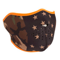Zan Neoprene Half Mask in Camo Stars pattern