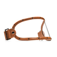 Equilibrialist Knox Visor for Gringo Helmets with Tan Trim and Clear Lens