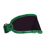 Equilibrialist Knox Visor for Gringo Helmets with Hunter Green Trim and Tinted Lens