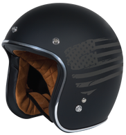 Torc DOT 3/4 Motorcycle Helmet with Flat Black Flag paint scheme