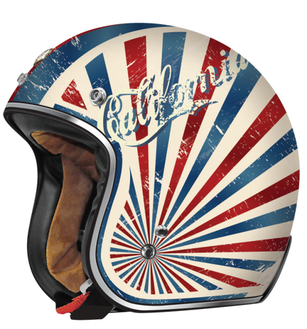 Torc DOT 3/4 Motorcycle Helmet with Flat White Dreamer paint scheme