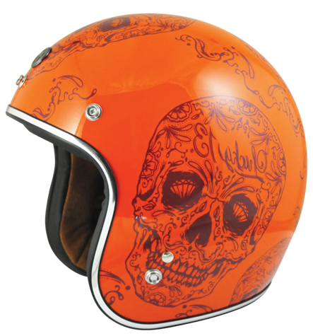 Torc DOT 3/4 Motorcycle Helmet with Craneo paint scheme - Left Side