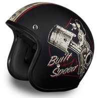 Daytona Cruiser 3/4 Open Face D.O.T. Helmet with Built For Speed Artwork - Overview