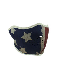 ZAN Half Mask In Patriot Vintage US-Flag design